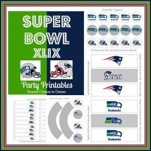 Super Bowl XLIX Party Printables