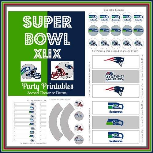 Second Chance ot Dream: Super Bowl Party Printables