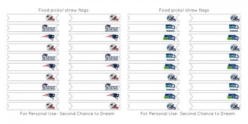 Second Chancet o Dream: Super Bowl 2015 Straw Flags