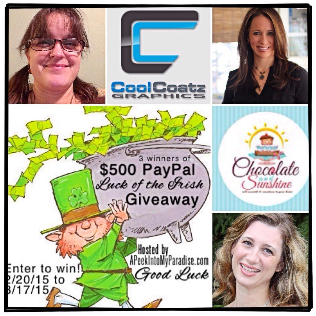 Luck of the Irish Giveaway | APeekIntoMyParadise.com #giveaway #blogger #paypalcash #cash