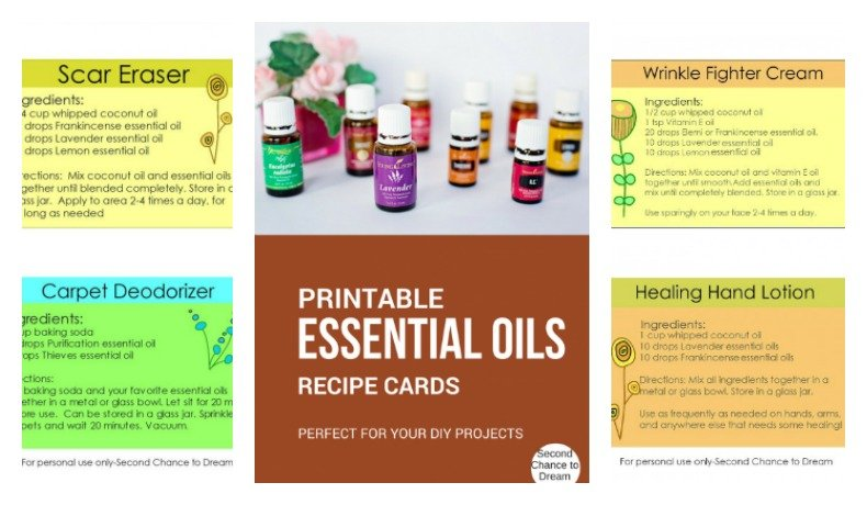 Second Chance to Dream: Printable Essential Oil Recipe Cards