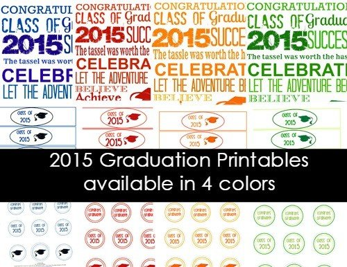 Second Chance to Dream: 2015 Graduation Printables #classof2015