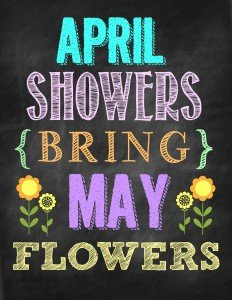 Free April Showers printable