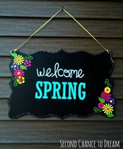 DIY Welcome Spring Sign