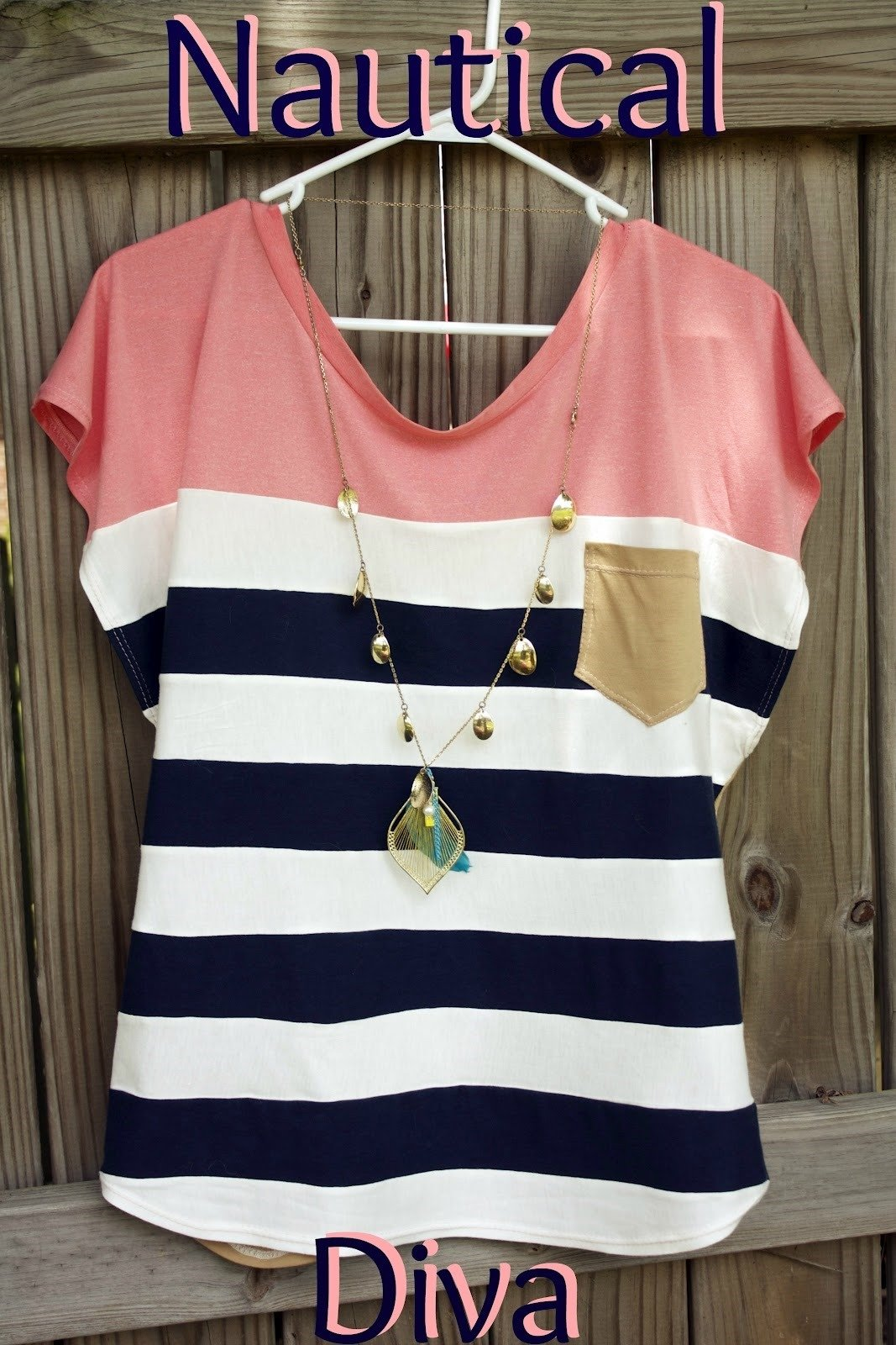 Nautical Womens Top - Free Sewing Patterns - FineCraftGuild.com