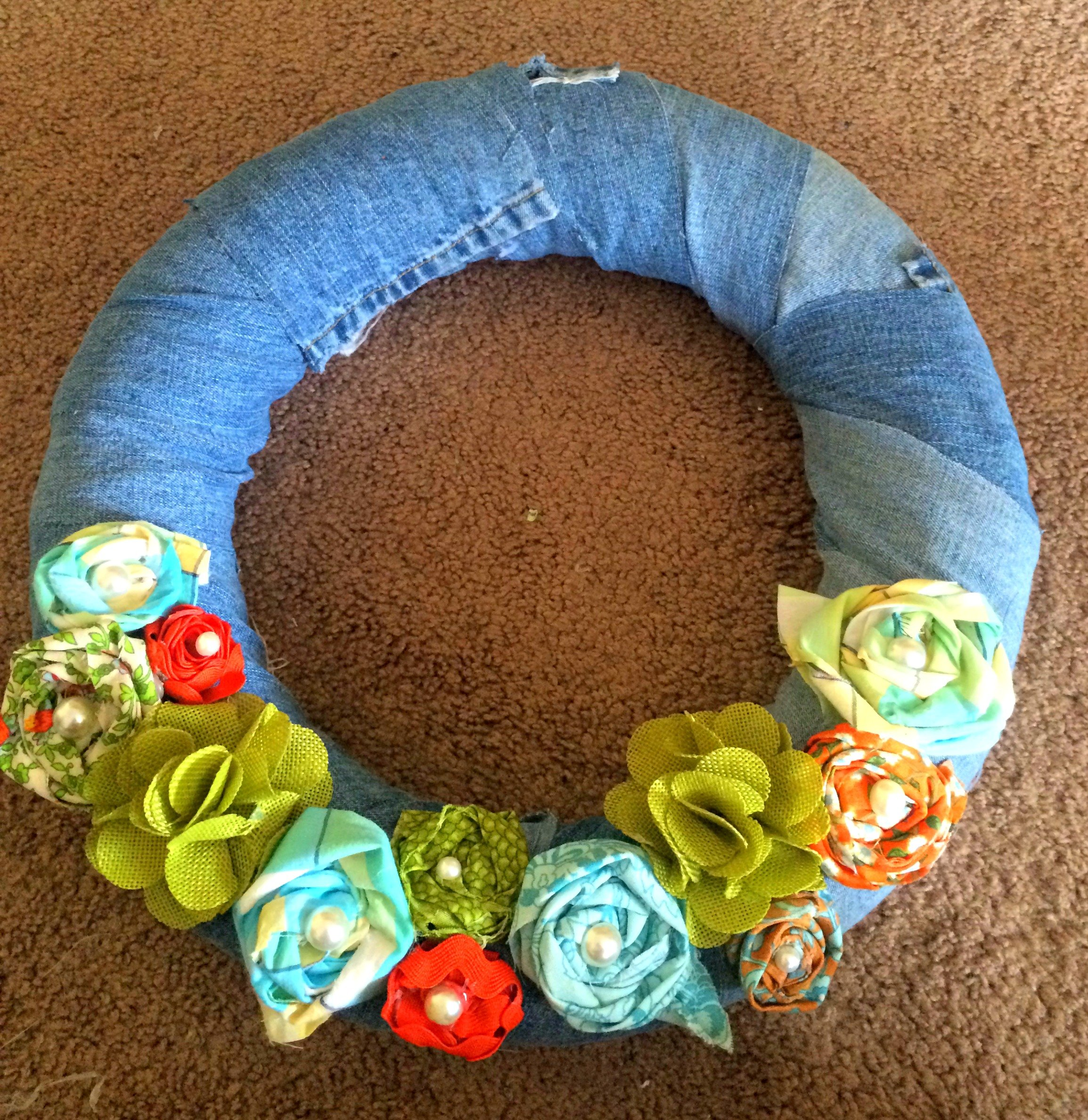 wreath before being hung