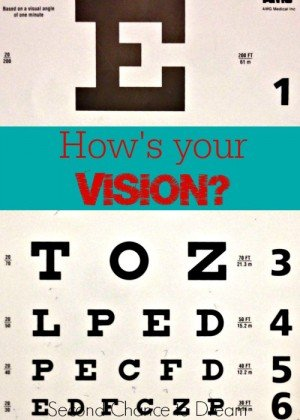 Second Chance to Dream: How's your vision? #goalsetting #vision