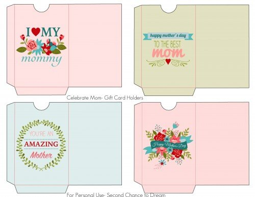 Second Chance to Dream: Mothers Day Gift Card Holders