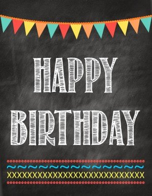 Second Chance to Dream: Happy Birthday Printable