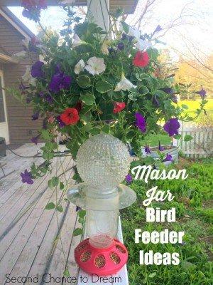 For the birds… Mason Jar Bird Feeder Ideas