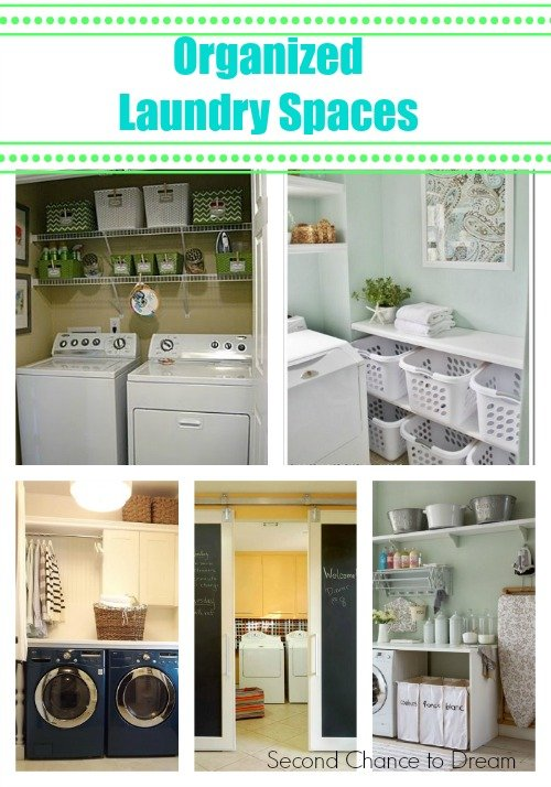 Seconde Chance to Dream: Organized Laundry spaces