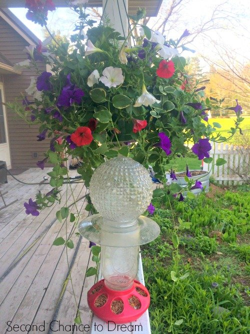 Second Chance to Dream: Mason Jar bird feeder