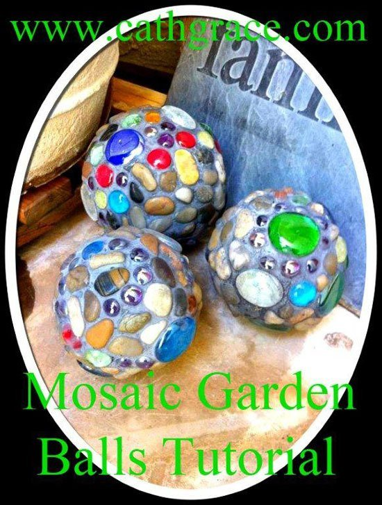How to make mosaic garden balls