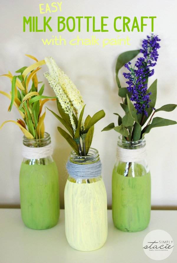 Easy Milk Bottle Craft