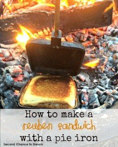 How to make a Reuben sandwich with a pie iron