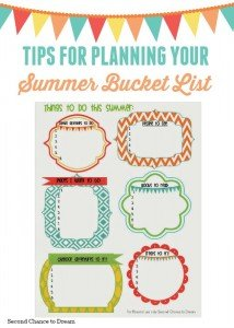 Tips for planning your summer bucket list