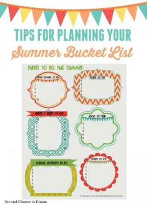 Second Chance to Dream: Tips for Planning your summer bucket list