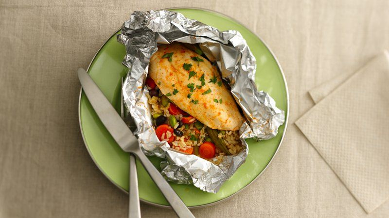 Honey-Sriracha Chicken Foil Packets