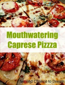 Mouthwatering Caprese pizza