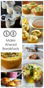 50 Make Ahead Breakfast Ideas