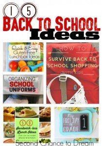 15 Back to School Ideas