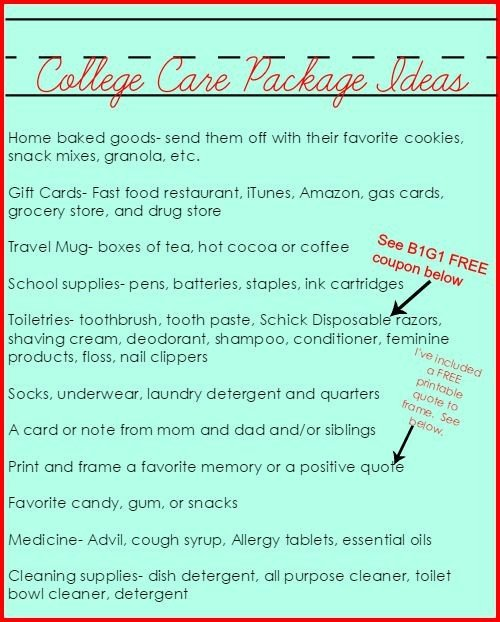 Second Chance to Dream: College Care Package Ideas+B1G1 FREE Schick razor coupon -#ad #sponsored #SchickSelfieSweeps