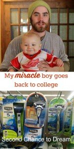My miracle boy goes back to college…