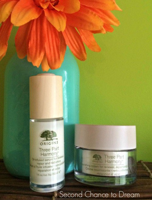 Second Chance to Dream: Origins Three Part Harmony Skin Care #ad