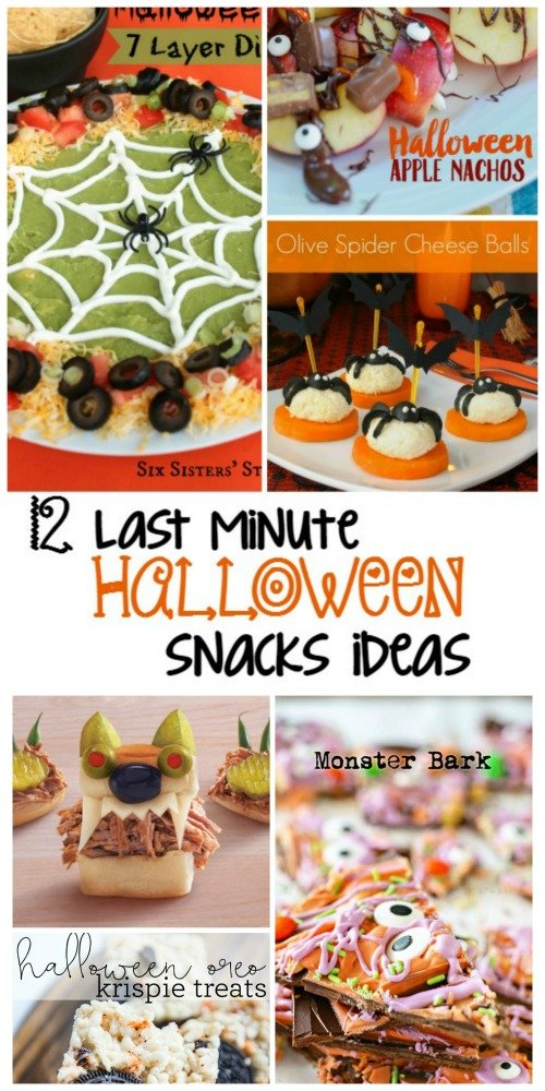 Second Chance to Dream: 12 Last Minute Halloween Snack Ideas