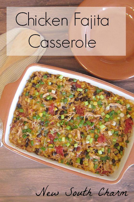 Chicken Fajita Casserole from NewSouthCharm.com