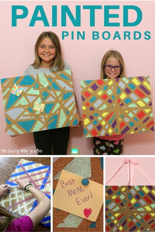 Add some fun to your boring corkboards and make them fun painted pin boards. A great kids craft that gives your child creative expression.