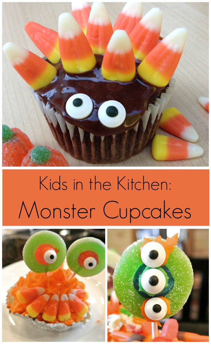 Monster Cupcakes Kid Activity. Fun for Halloween or any time of year!