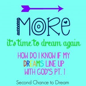 How do you know if your dreams line up with God's pt. 1
