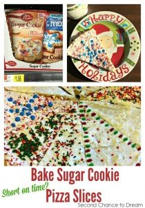 Short on time? Bake Sugar Cookie Pizza Slices