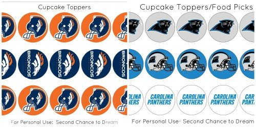 Second Chance to Dream: Super Bowl 50 Party Printables #SuperBowl50