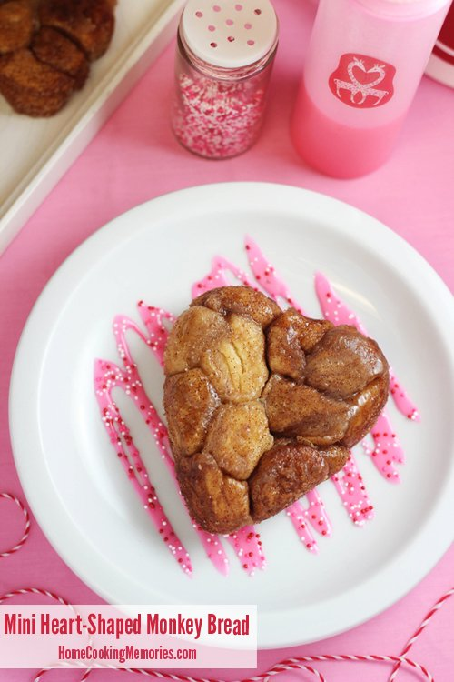 Mini Heart-Shaped Monkey Bread