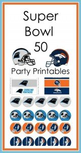 Super Bowl 50 Party Printables