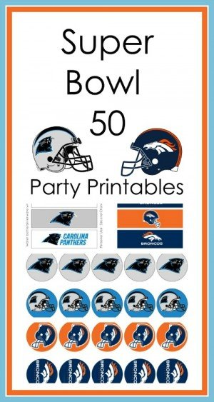 Super Bowl 50 Party Printables