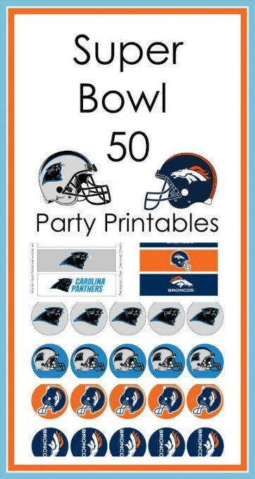 Second Chance to Dream Super Bowl 50 Party Printables #SuperBowl50