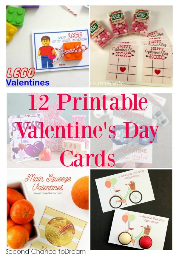 Second Chance to Dream: 12 Printable Valentine's Day Cards