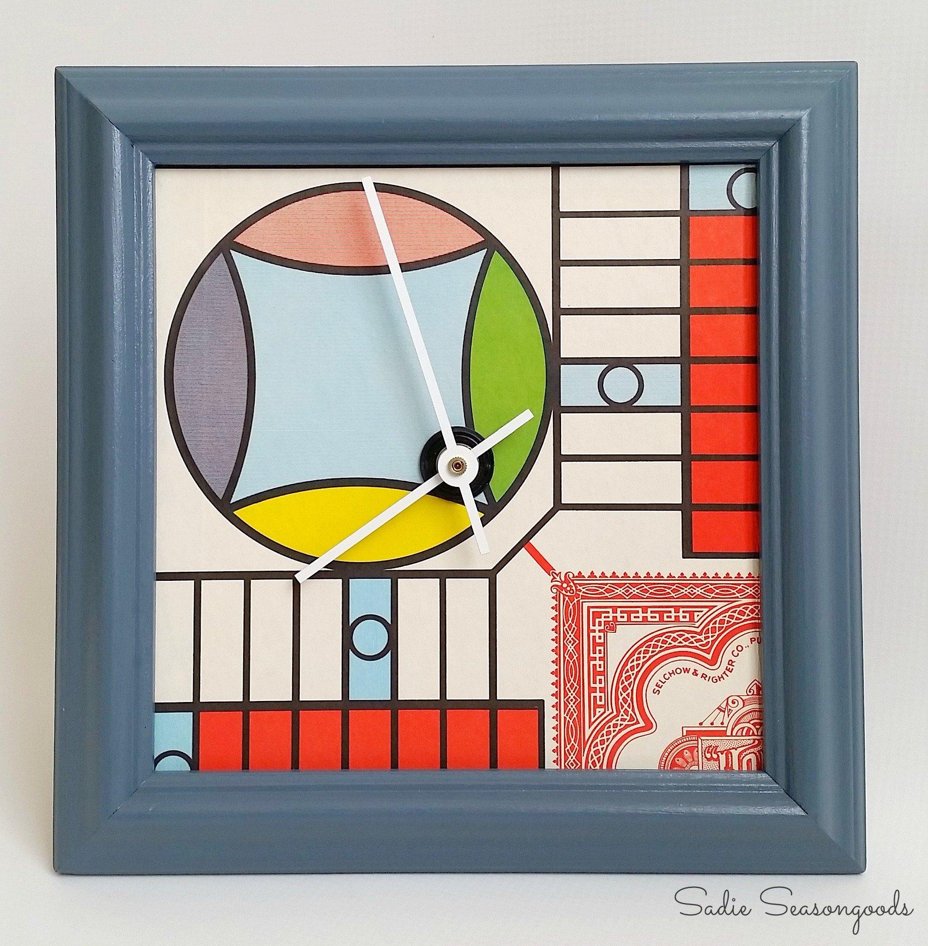Playful Décor: Vintage Parcheesi Game Board Clock