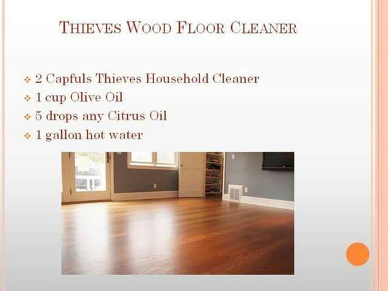 Thieves Wood Floor Cleaner: Essential Oil Household Cleaner