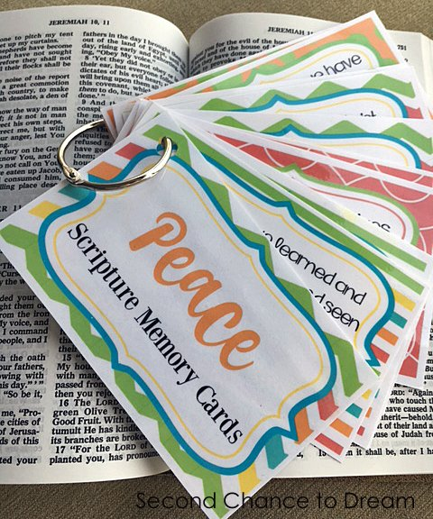 Second Chance to Dream: Peace Scripture Memory Cards #scripturememory