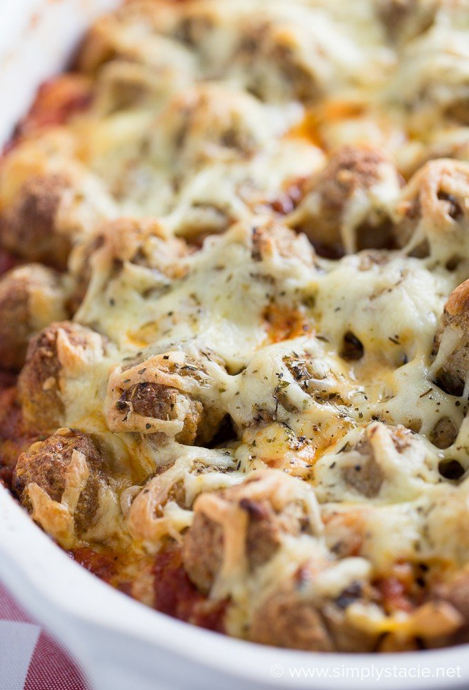 Meatball Sub Casserole - If you enjoy eating meatball subs, you will LOVE this simple casserole recipe!