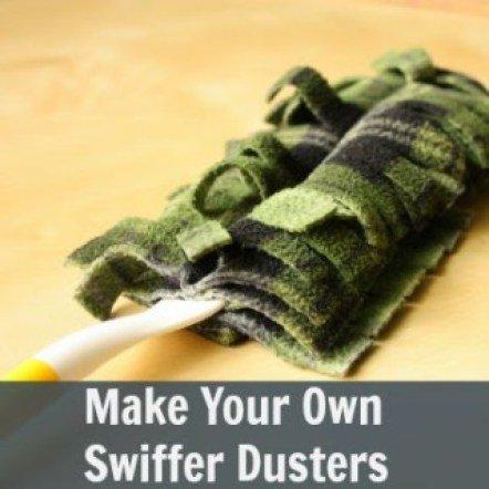 make your own swiffer duster refills