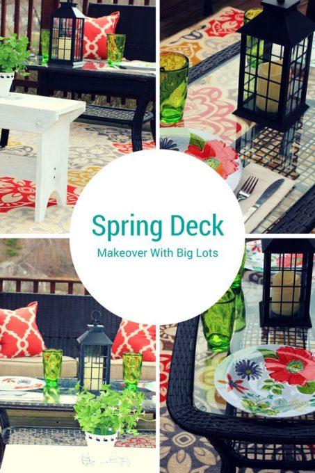 Big Lots Spring Deck Makeover: