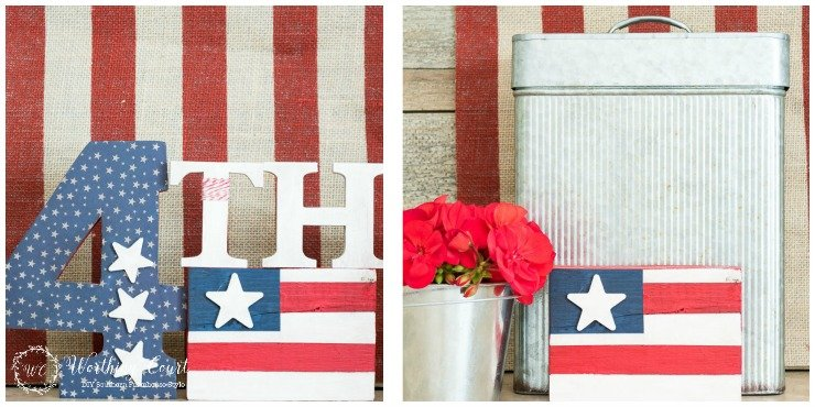 This fun craft is easy to make and can be used for all patriotic holidays - Memorial Day, Flag Day and July 4th || Worthing Court