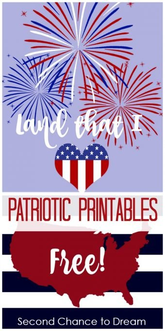 Second Chance to Dream Patriotic Printables