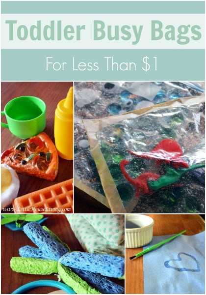Toddler Busy Bags Under $1 - Little House Living