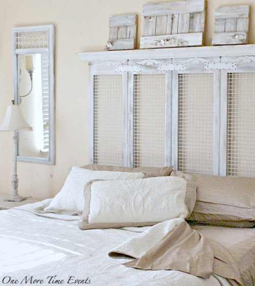 Farmhouse headboard and sheets